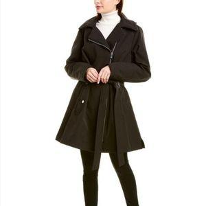 Via spiga asymmetrical Medium trench coat